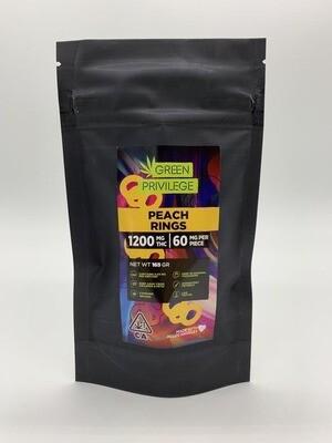 Green Privilege - Peach Rings 1200mg