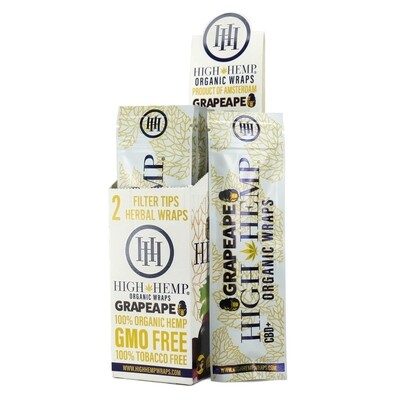 High Hemp Organic Wraps - Grape Ape