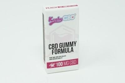 Kushy Punch - Peach CBD Gummies 100mg
