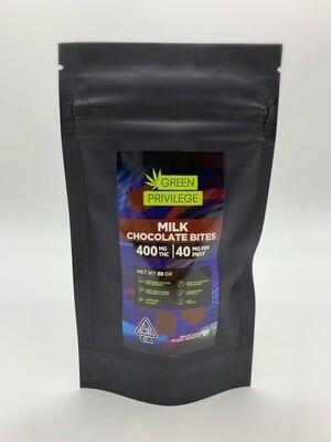 Green Privilege - Milk Chocolate Bites 400mg