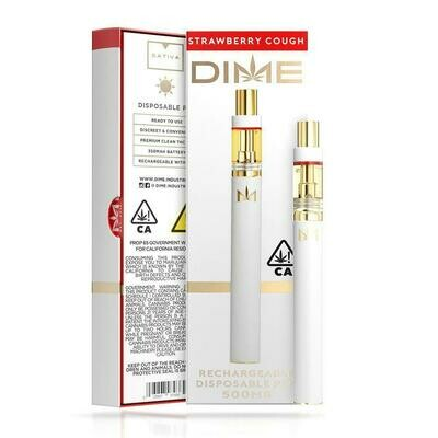 DIME Disposable - Strawberry Cough 500mg
