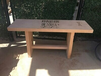 Wooden Wedding Guest Book Bench
