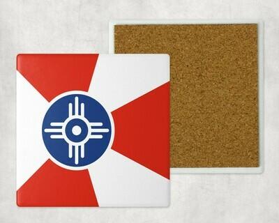 WICHITA FLAG SQUARE SANDSTONE COASTER