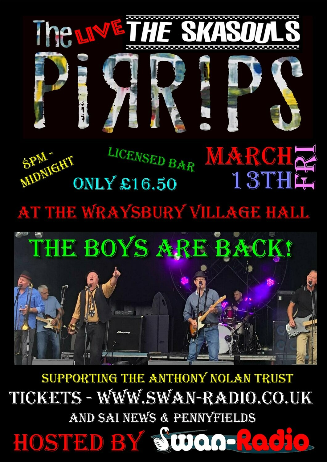 The Pirrips (SkaSouls) Party - 13th March 2020