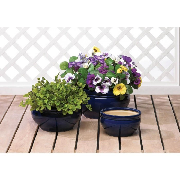 OCEAN BLUE PLANTER TRIO by Summerfield Terrace