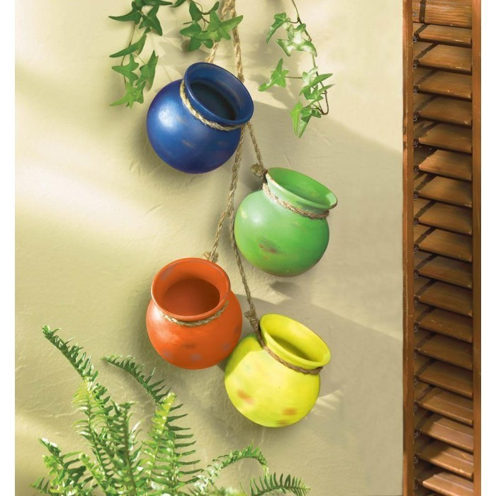 FIESTA DANGLING POTS by Summerfield Terrace