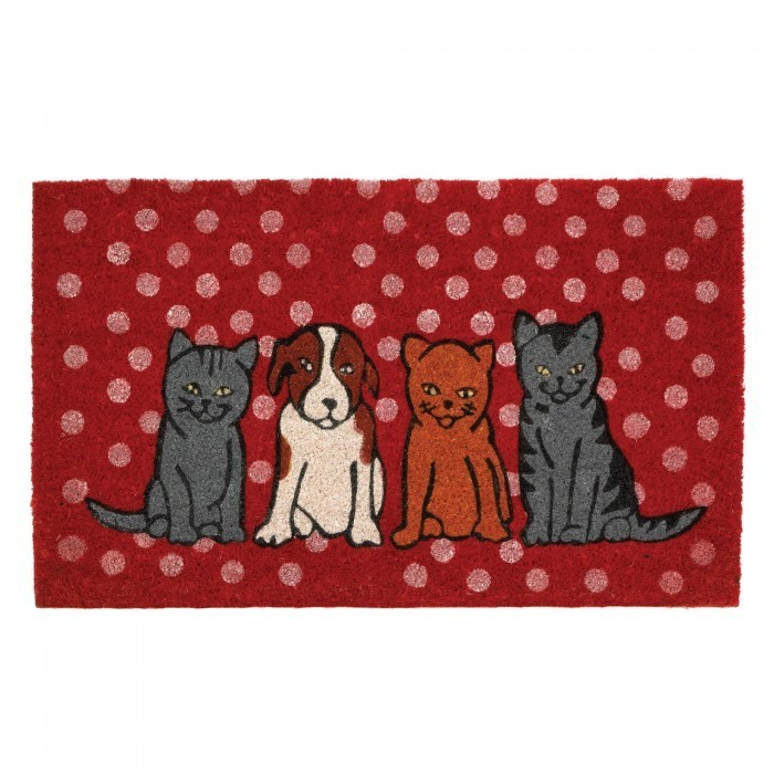DOGS AND CATS WELCOME MAT by Summerfield Terrace