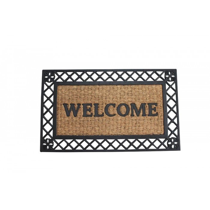 BOLD BORDER WELCOME MAT by Summerfield Terrace