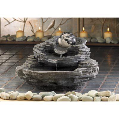 34807 Rock Design Tabletop Fountain