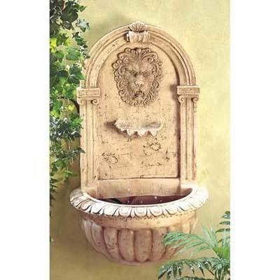 LION HEAD WALL FOUNTAIN by Cascading Fountains