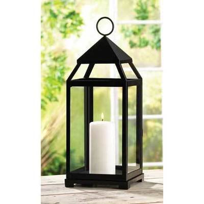 13347 Large Contemporary Candle Lantern