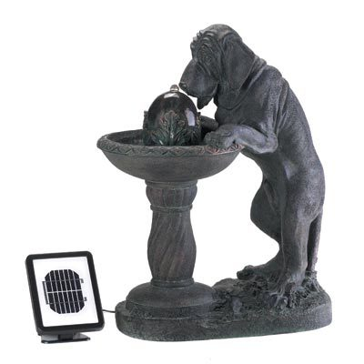 THIRSTY DOG SOLAR FOUNTAIN by Cascading Fountains