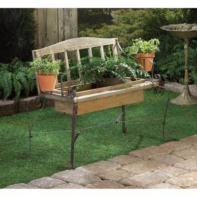 IRONWOOD BENCH PLANTER by Summerfield Terrace