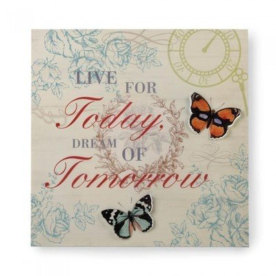 LIVE AND DREAM 3-D BUTTERFLY WALL ART