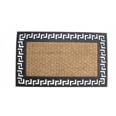 WELCOME MAT WITH GEOMETRIC BORDER by Summerfield Terrace