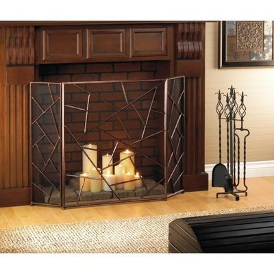 MODERN GEOMETRIC FIREPLACE SCREEN by Accent Plus