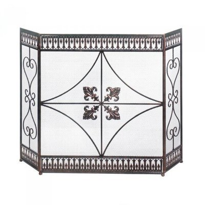 FRENCH FLOURISH FIREPLACE SCREEN by Accent Plus