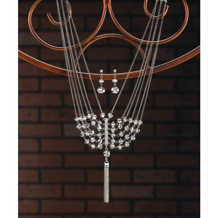 VINTAGE CRYSTAL TASSEL JEWELRY SET by Breezy Couture