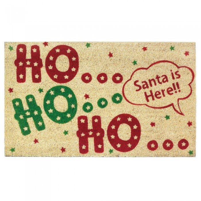 HO HO HO WELCOME MAT by Christmas Collection
