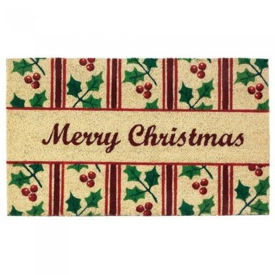 CHRISTMAS HOLLY WELCOME MAT by Christmas Collection