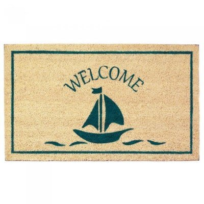 SAILBOAT WELCOME MAT by Summerfield Terrace