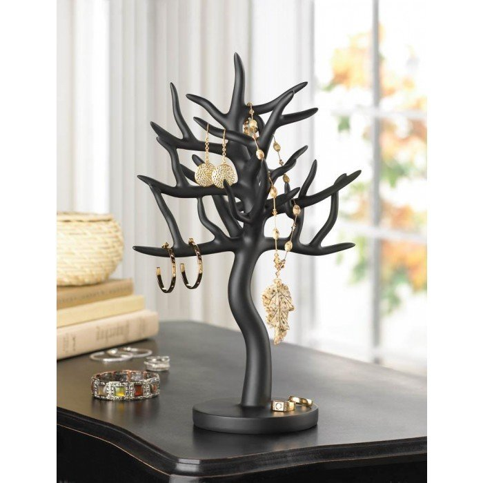 BLACK TREE JEWELRY STAND by Accent Plus