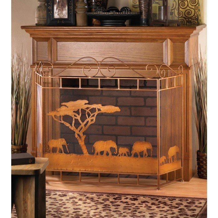 WILD SAVANNAH FIREPLACE SCREEN by Accent Plus