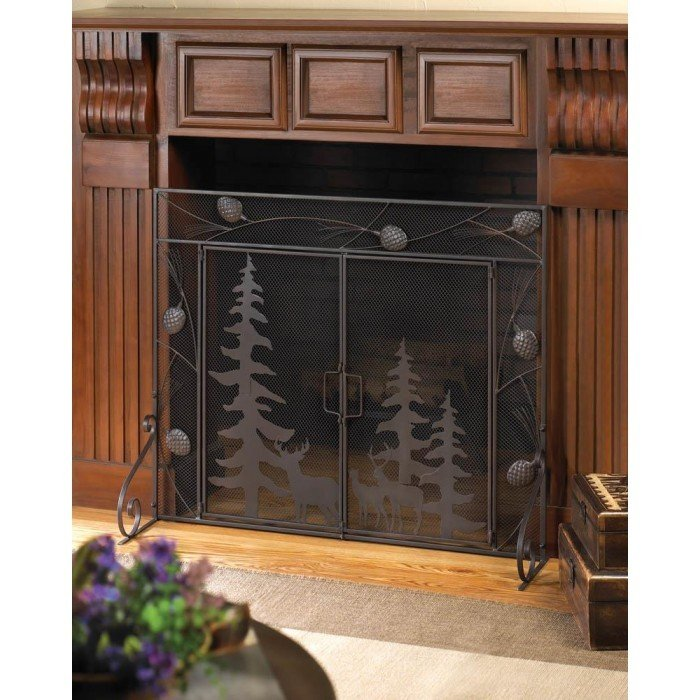 WOODLAND FOREST FIREPLACE SCREEN by Accent Plus