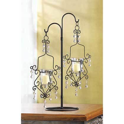 39059 Crystal Drop Candleholder