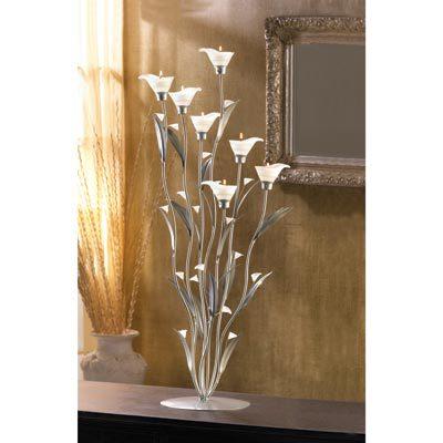 12794 Silver Calla Lily Candleholder