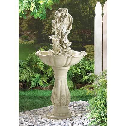 34189 Fairy Maiden Water Fountain