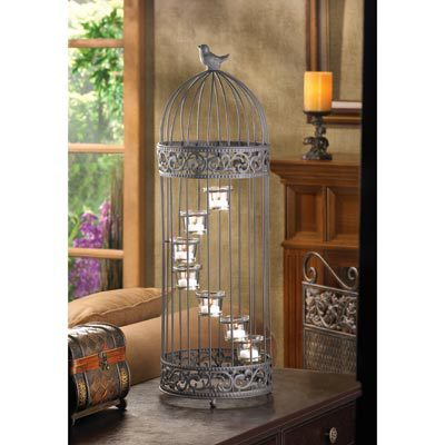 D1232 BIRDCAGE STAIRCASE CANDLE STAND