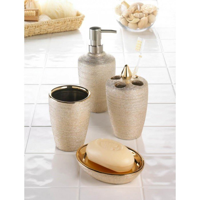 GOLDEN SHIMMER BATH SET by Accent Plus
