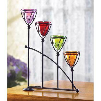 38648 Jewel-Toned Candleholder