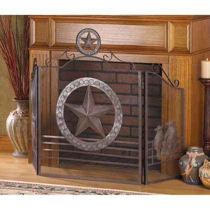 LONE STAR FIREPLACE SCREEN by Accent Plus