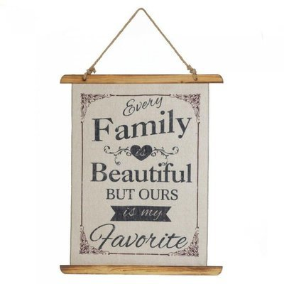 BEAUTIFUL FAMILY LINEN WALL ART by Accent Plus