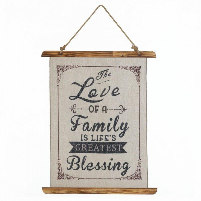 FAMILY LOVE LINEN WALL ART by Accent Plus