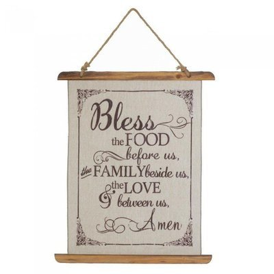 BLESS FOOD LINEN WALL ART by Accent Plus