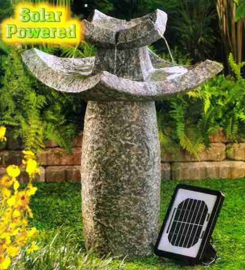 TEMPLE SOLAR WATER FOUNTAIN by Cascading Fountains
