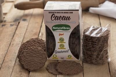 Biscoito Doce de Arroz Diet Com Cacau Sem Glúten e Sem Lactose