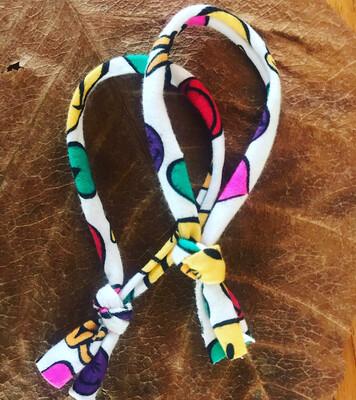 Organic Cotton emoji hair ties