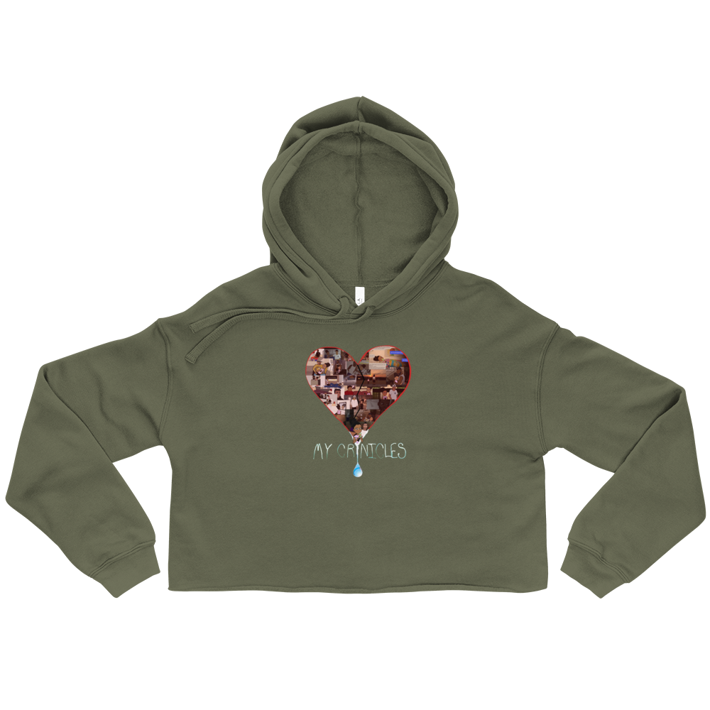 Women's Cropped Hoodie - Military Green