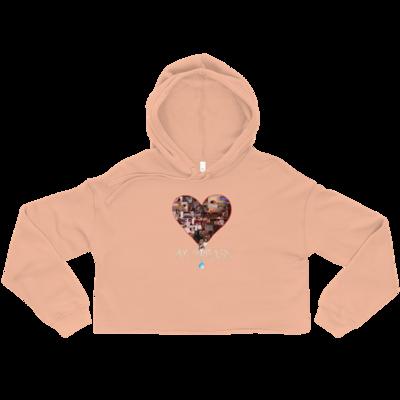 Women's Cropped Hoodie - Peach