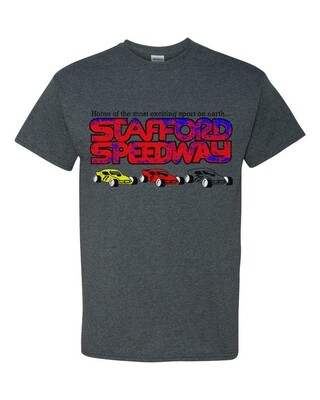 Stafford Retro Tee - Heather Gray