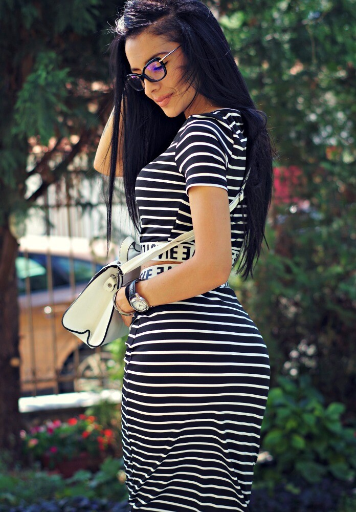 Сет - Black & White striped set