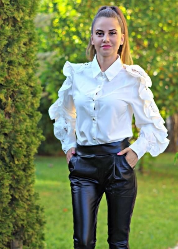 Панталон - Black leather