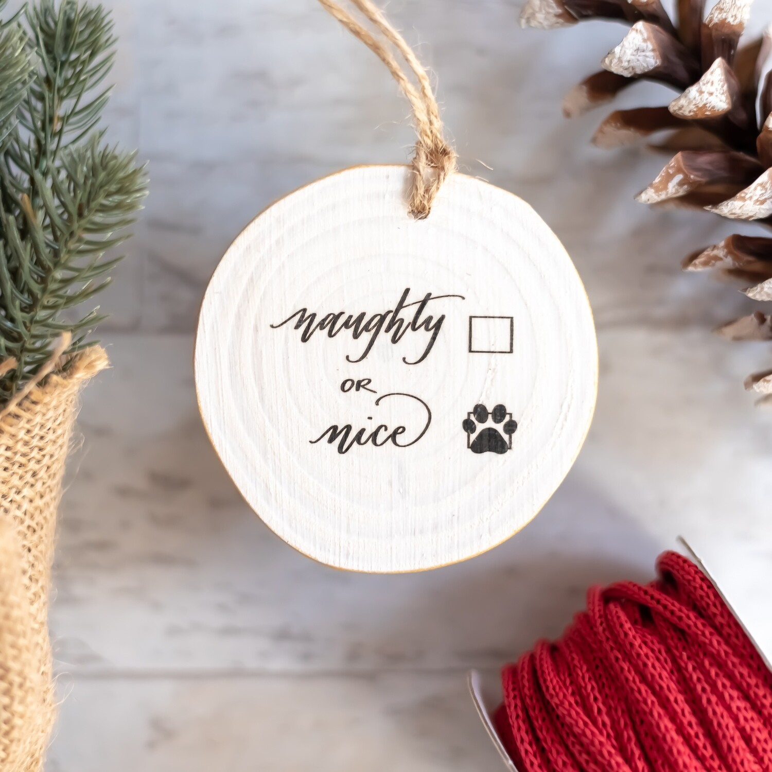 Naughty or Nice- Nice Puppy Paw Print