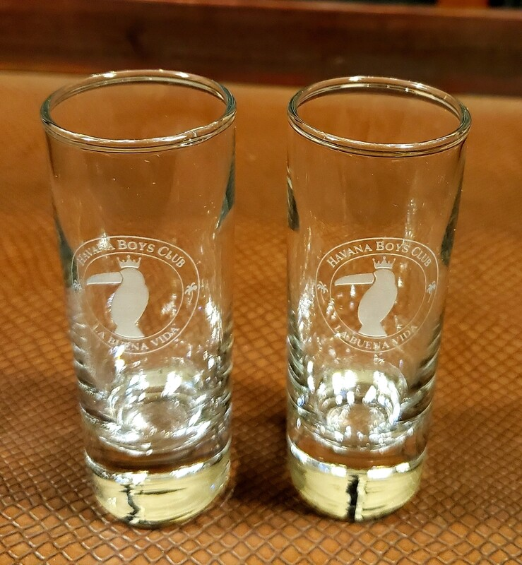 Shot Glasses (4) Crystal and Engraved
