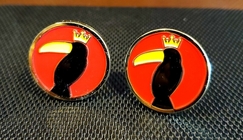King Toucan Cuff Links
