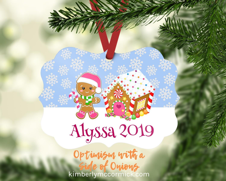 Gingerbread Girl Christmas Ornament